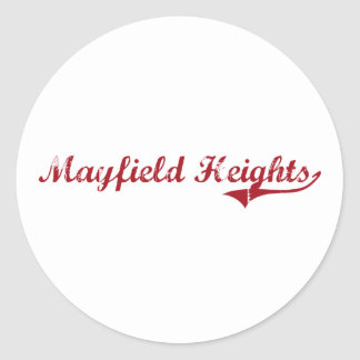 Diseño clásico de Mayfield Heights Ohio Pegatinas