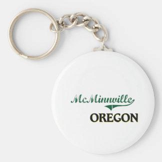Diseño clásico de McMinnville Oregon Llavero Personalizado