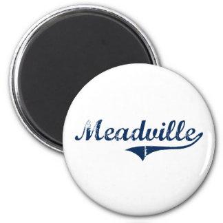 Diseño clásico de Meadville Pennsylvania Imán Redondo 5 Cm