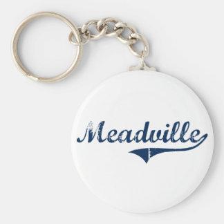 Diseño clásico de Meadville Pennsylvania Llavero Redondo Tipo Pin