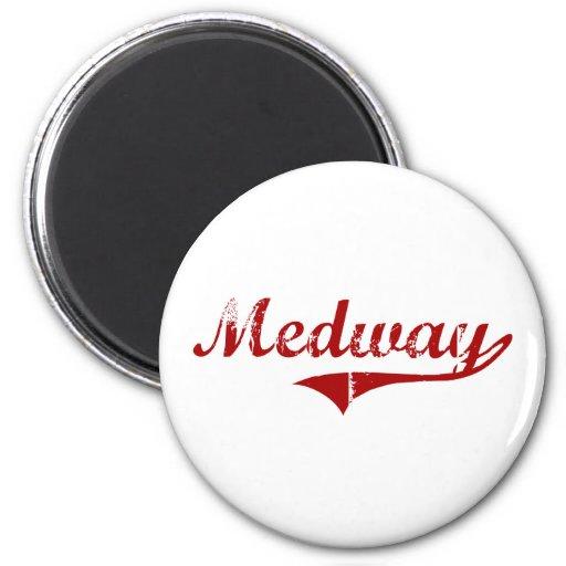 Diseño clásico de Medway Massachusetts Imanes De Nevera
