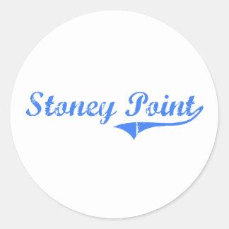 Diseño clásico de Michigan del punto de Stoney Pegatina Redonda