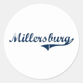Diseño clásico de Millersburg Pennsylvania Pegatina Redonda