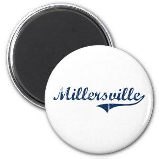 Diseño clásico de Millersville Pennsylvania Imán Redondo 5 Cm
