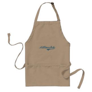 Diseño clásico de Millinocket Maine Delantal