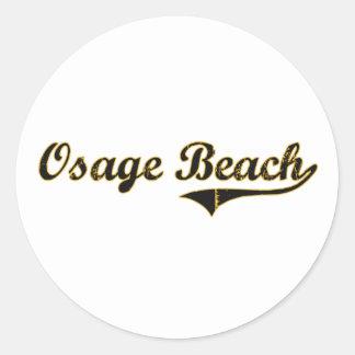Diseño clásico de Missouri de la playa de Osage Pegatinas