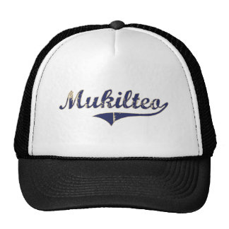 Diseño clásico de Mukilteo Washington Gorras