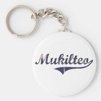 Diseño clásico de Mukilteo Washington Llavero Personalizado