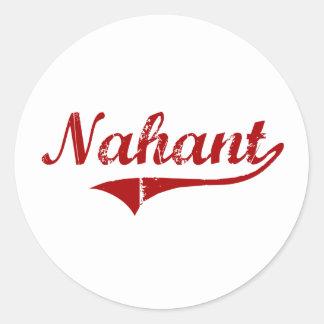Diseño clásico de Nahant Massachusetts Pegatina Redonda