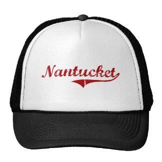 Diseño clásico de Nantucket Massachusetts Gorro De Camionero