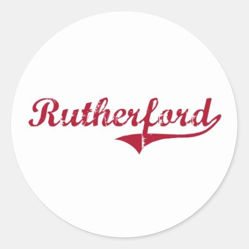 Diseño clásico de New Jersey del Rutherford Etiqueta Redonda