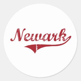 Diseño clásico de Newark Ohio Pegatina Redonda