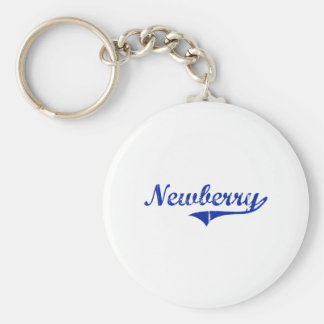 Diseño clásico de Newberry la Florida Llavero Redondo Tipo Pin