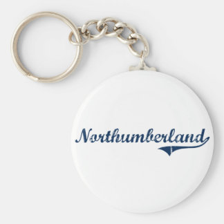 Diseño clásico de Northumberland Pennsylvania Llavero Redondo Tipo Pin