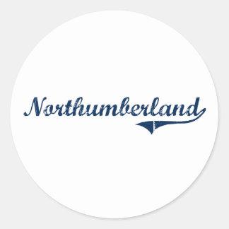 Diseño clásico de Northumberland Pennsylvania Pegatina Redonda