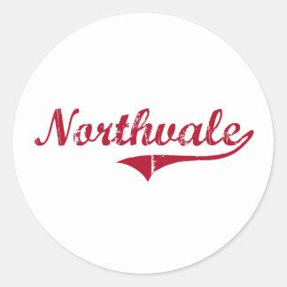 Diseño clásico de Northvale New Jersey Pegatina Redonda
