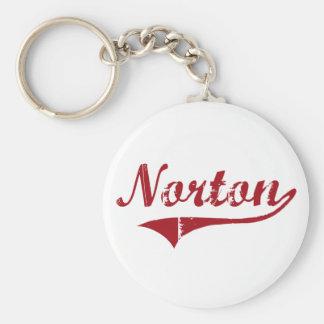 Diseño clásico de Norton Ohio Llavero Redondo Tipo Pin