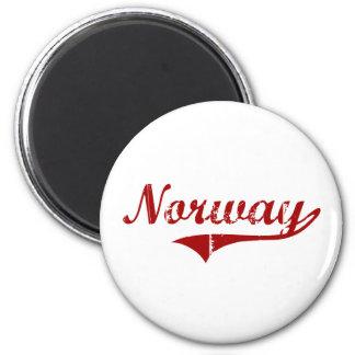 Diseño clásico de Noruega Carolina del Sur Imán Redondo 5 Cm