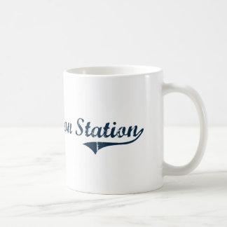 Diseño clásico de Nueva York de la estación de Jef Tazas De Café