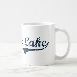 Diseño clásico de Nueva York del lago Saranac Taza De Café
