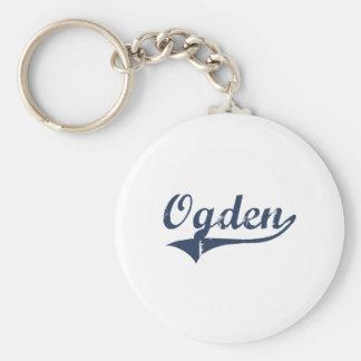 Diseño clásico de Ogden Utah Llaveros Personalizados