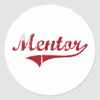 Diseño clásico de Ohio del mentor Etiqueta Redonda