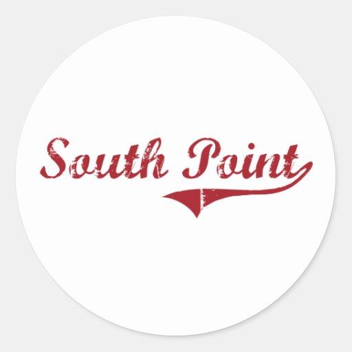 Diseño clásico de Ohio del punto del sur Pegatinas Redondas