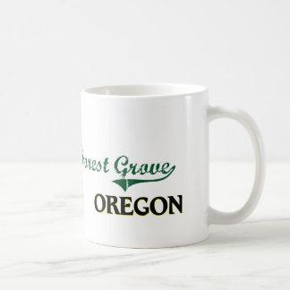 Diseño clásico de Oregon de la arboleda del bosque Taza