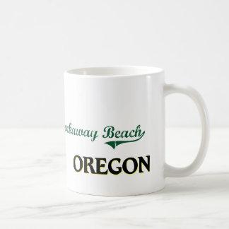 Diseño clásico de Oregon de la playa de Rockaway Tazas