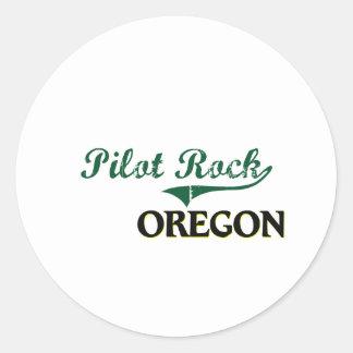 Diseño clásico de Oregon de la roca experimental Pegatina Redonda