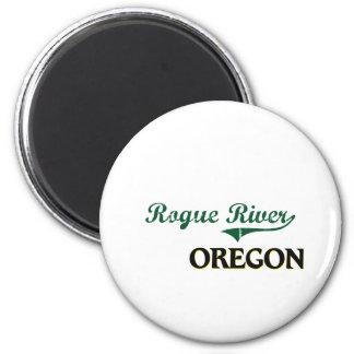 Diseño clásico de Oregon del río del granuja Imán Redondo 5 Cm