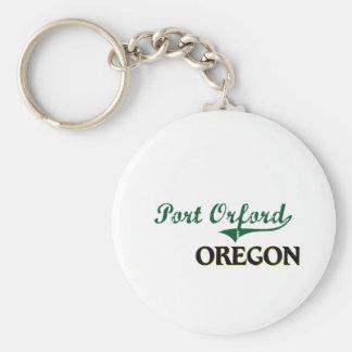 Diseño clásico de Orford Oregon del puerto Llaveros Personalizados