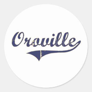 Diseño clásico de Oroville Washington Pegatina Redonda