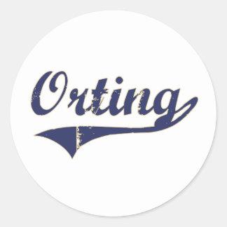 Diseño clásico de Orting Washington Pegatina Redonda