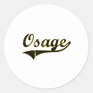 Diseño clásico de Osage Iowa Pegatina