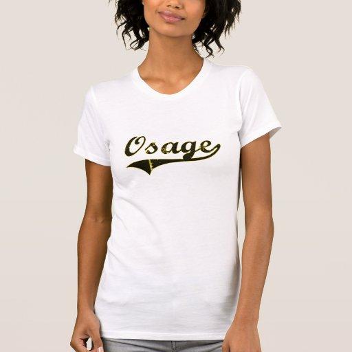 Diseño clásico de Osage Iowa T-shirt