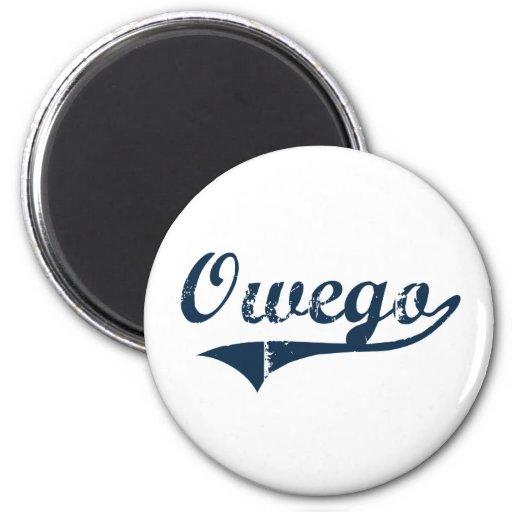 Diseño clásico de Owego Nueva York Imán Redondo 5 Cm