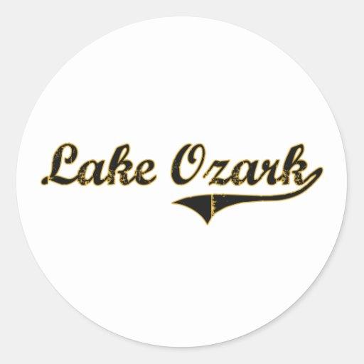 Diseño clásico de Ozark Missouri del lago Pegatina Redonda