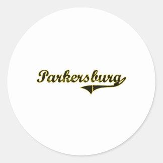 Diseño clásico de Parkersburg Iowa Pegatina Redonda