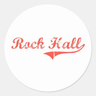 Diseño clásico de Pasillo Maryland de la roca Etiquetas Redondas