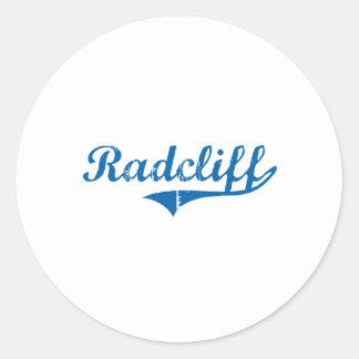Diseño clásico de Radcliff Kentucky Pegatina Redonda