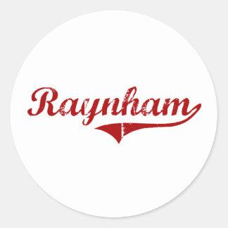 Diseño clásico de Raynham Massachusetts Etiquetas Redondas