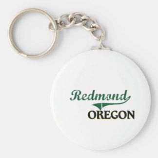 Diseño clásico de Redmond Oregon Llavero Redondo Tipo Pin