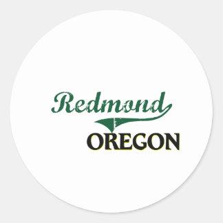 Diseño clásico de Redmond Oregon Pegatina Redonda