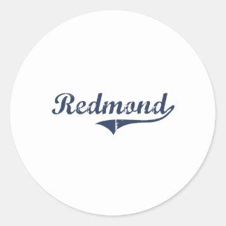 Diseño clásico de Redmond Utah Pegatina Redonda