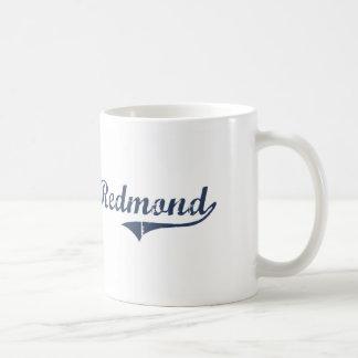 Diseño clásico de Redmond Utah Taza Básica Blanca