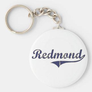 Diseño clásico de Redmond Washington Llavero Redondo Tipo Pin