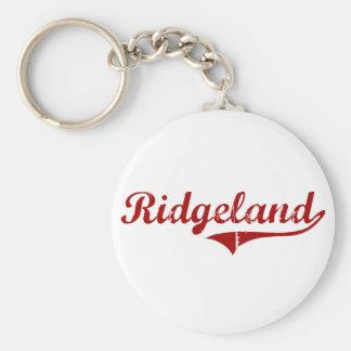 Diseño clásico de Ridgeland Carolina del Sur Llavero