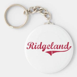 Diseño clásico de Ridgeland Mississippi Llaveros Personalizados