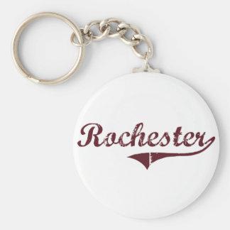 Diseño clásico de Rochester Minnesota Llaveros Personalizados